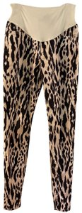 7 For All Mankind ikat animal print maternity skinny jeans