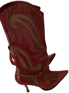 Dollhouse deep red Boots