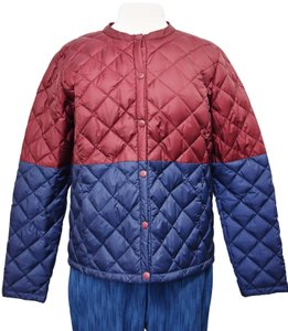 Lolë Quilted Insulated Maroon & Navy Jacket