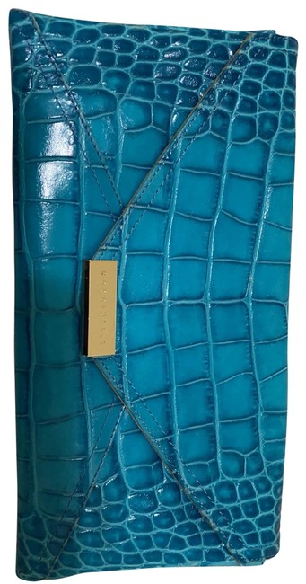 Item - Turquoise Leather Clutch