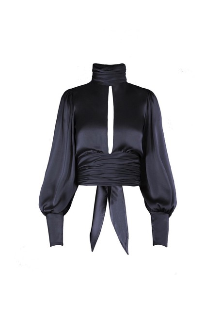 Item - Black Night Out Midnight Blouse Size 6 (S)
