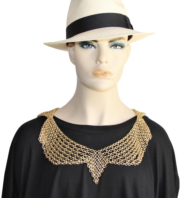 BCBGMAXAZRIA Gold Gold-tone Mesh Body Collar Chain Necklace BCBGMAXAZRIA Gold Gold-tone Mesh Body Collar Chain Necklace Image 1