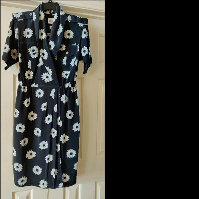 Item - Blue & White Collection Mid-length Work/Office Dress Size 12 (L)