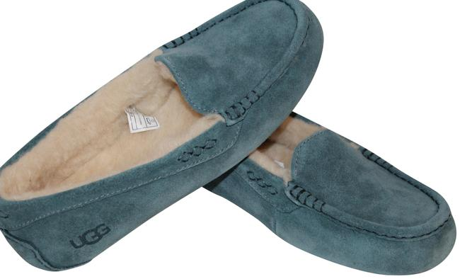 Item - Teal Green Ansley Suede Shearling Slippers Mules/Slides Size US 6 Regular (M, B)