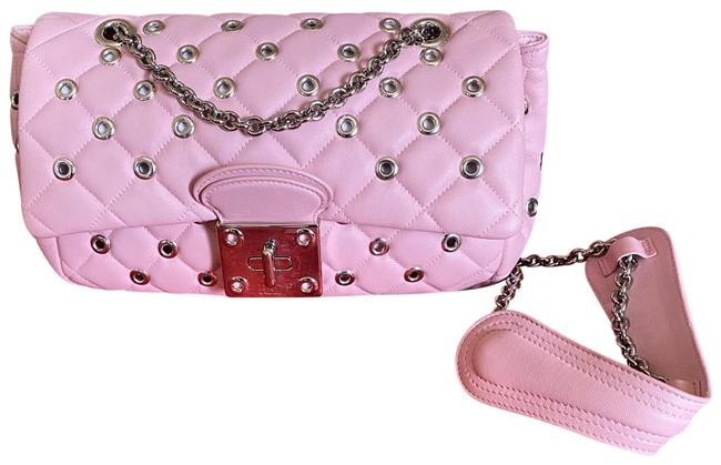 Item - Red Pink Leather Clutch
