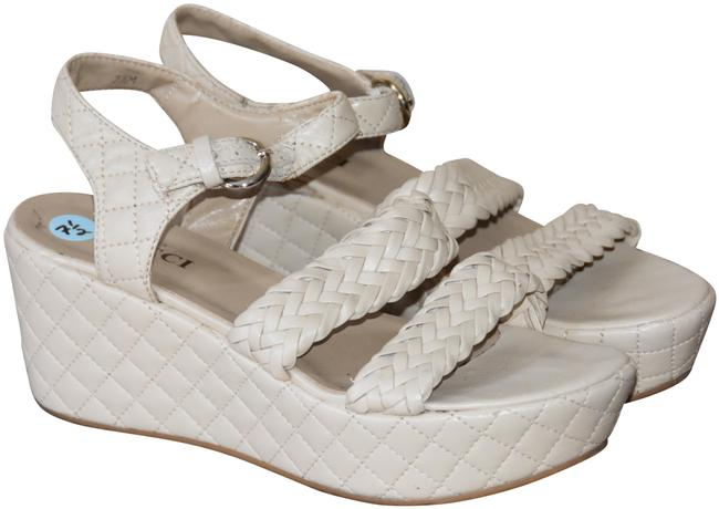 Item - Nude Quilted Sandal Wedges Size US 7.5 Regular (M, B)