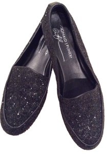Donald J. Pliner Black Sparkle Fabric Flats