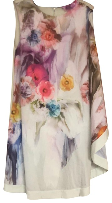 Item - Multicolor One Draped Shoulder Overlay Short Night Out Dress Size 6 (S)