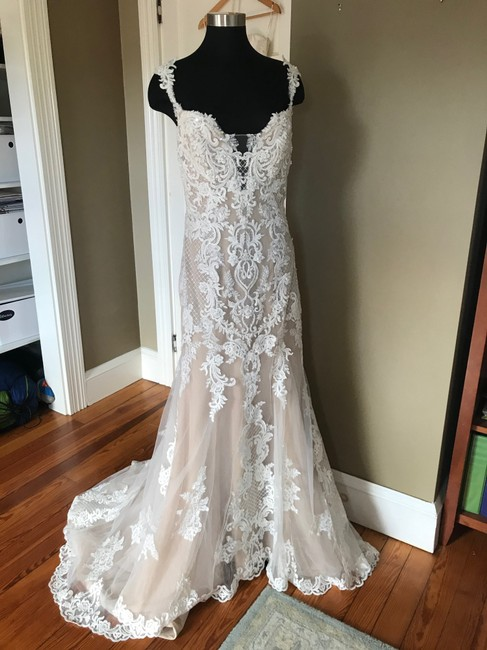 Item - Ivory Over Nude Dress abbie Lynette Feminine Wedding Dress Size 14 (L)