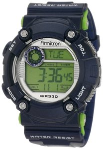 Armitron Armitron Male Sport Watch 8229BLU Silver Digital