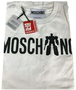 Moschino T Shirt White/Black