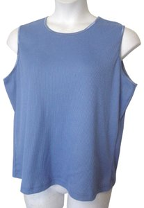 Allison Daley Shell Stretchy Top Blue
