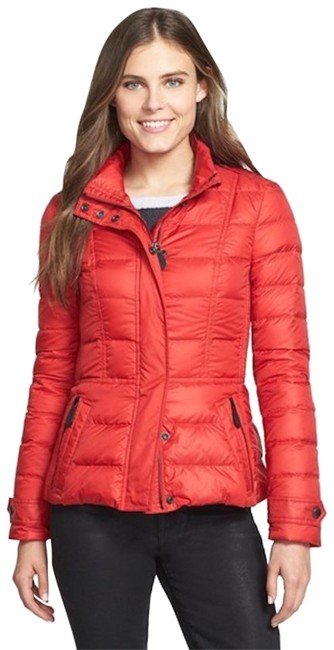 Item - Red Womens Quilted Puffer Down Jacket Medium Coat Size 8 (M)