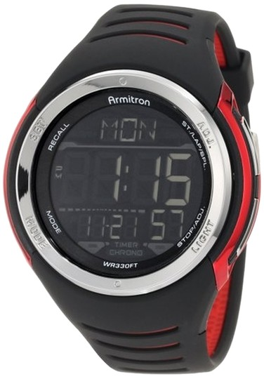 Armitron Armitron Male Sport Watch 8250RED Black Digital