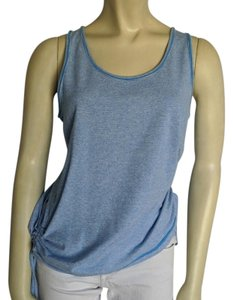 lucy lucy | Blue Sleeveless Side Scoop Tank Top M