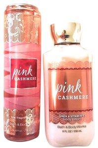 Bath and Body Works Pink Cashmere Body Mist and Shea Body Lotion