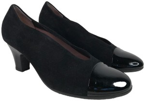 BeautiFeel Suede Patent Cap Toe Patent Leather Leather Black Pumps