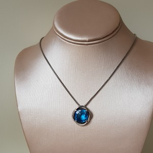 David Yurman David Yurman Infinity 14mm Hampton Blue Topaz Necklace