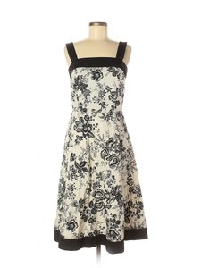 Madison Leigh short dress Blackwhite-floral A-line Blocked Printt Floral Square Neckline Shoulder Straps on Tradesy