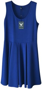 White Mark short dress Royal Blue New With Tags Fit And Flare Tank Style Flared Skirt Pullover Style on Tradesy