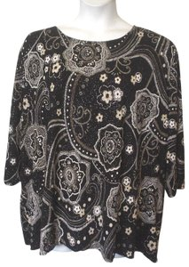 Maggie Barnes Glitter Knit Shirt Plus Tunic