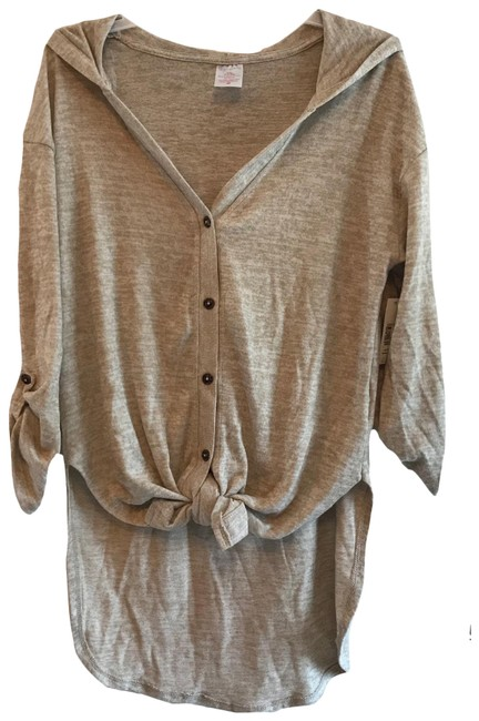 Item - Oatmeal Heather High Low Tunic Size 12 (L)