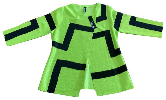 Item - Lime Green and Black With 1 Snap Jacket Size 12 (L)