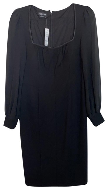 Item - Black Long Sleeve Mid-length Night Out Dress Size 10 (M)