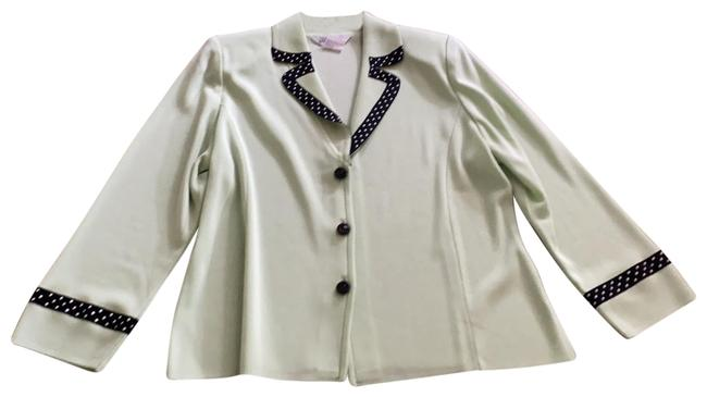 Item - Light Like Green with Black and White Accent Fashionable Blazer Size 10 (M)