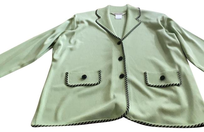 Item - Light Green with Black Accent Fashionable Blazer Size 12 (L)