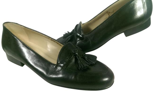 Enzo Angiolini Black Leather Woman's Tassel Dress Casual Loafer 6m Flats Size US 6 Regular (M, B) Enzo Angiolini Black Leather Woman's Tassel Dress Casual Loafer 6m Flats Size US 6 Regular (M, B) Image 1