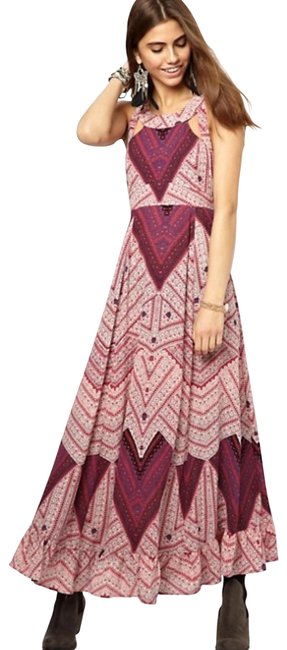 Free People Multicolor You Made My Day Long Casual Maxi Dress Size 0 (XS) Free People Multicolor You Made My Day Long Casual Maxi Dress Size 0 (XS) Image 1