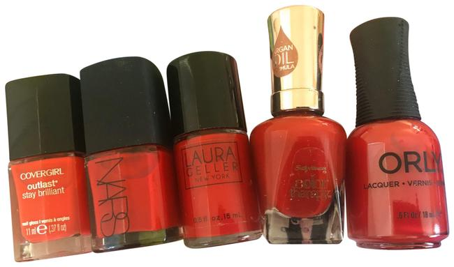 Nars Cosmetics Red Lot Of Five Nail Polish Nars Cosmetics Red Lot Of Five Nail Polish Image 1