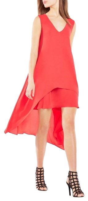 Item - Red Kaira Asymmetrical Layered Mid-length Night Out Dress Size 2 (XS)