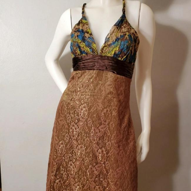 Preload https://img-static.tradesy.com/item/27165261/laundry-by-shelli-segal-forest-green-silk-gold-lace-and-bottom-and-sheer-chiffon-top-long-cocktail-d-0-2-650-650.jpg