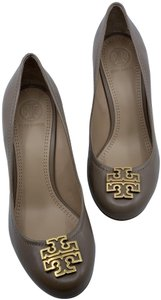 Tory Burch Leather French Grey / Gold Wedges