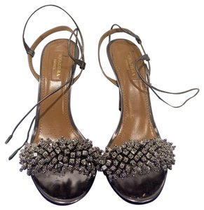 Aquazzura Grey/ Silver Sandals