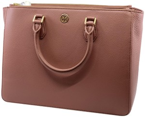 Tory Burch Leather Tote in Maple Sugar