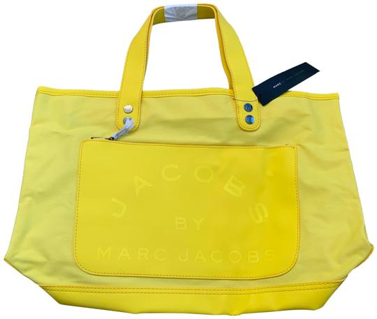 Preload https://img-static.tradesy.com/item/27165674/marc-by-marc-jacobs-yellow-canvas-tote-0-2-540-540.jpg