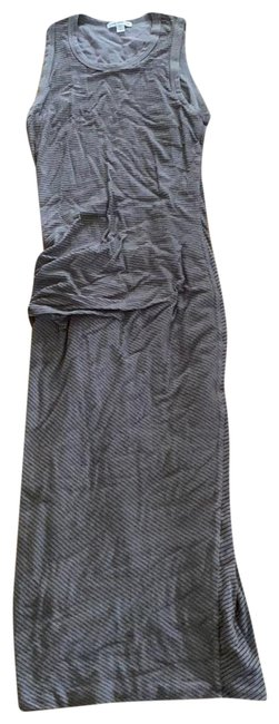 Item - Grey and Black Stripe Tank Mid-length Casual Maxi Dress Size 4 (S)
