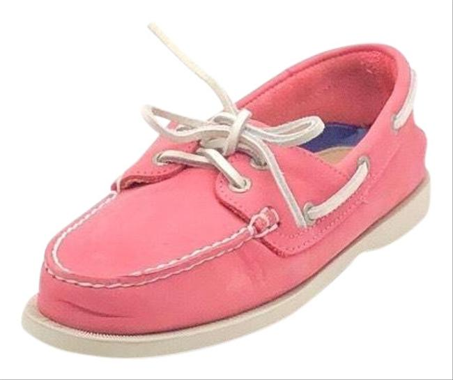 G.H. Bass & Co. Pink Castoff Leather Boat Flats Size US 7.5 Regular (M, B) G.H. Bass & Co. Pink Castoff Leather Boat Flats Size US 7.5 Regular (M, B) Image 1