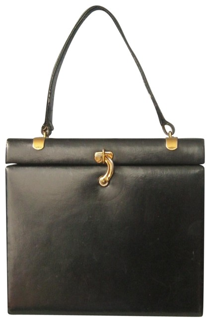 Bienen-Davis Vintage Black Leather Weekend/Travel Bag Bienen-Davis Vintage Black Leather Weekend/Travel Bag Image 1