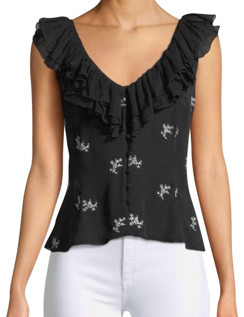 Preload https://img-static.tradesy.com/item/27166071/cinq-a-sept-blackwhite-gia-silk-embroidered-ruffle-blouse-size-4-s-0-2-650-650.jpg