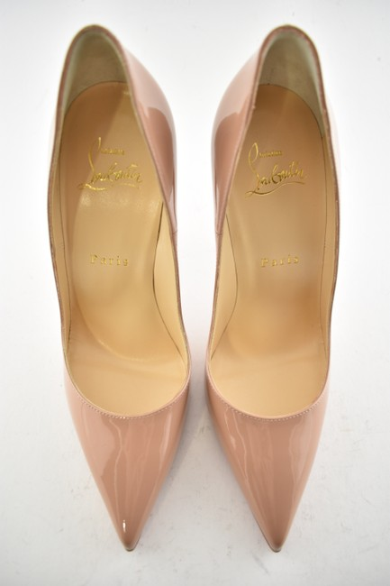 Christian Louboutin Beige Nude So Kate 120 Patent Pumps