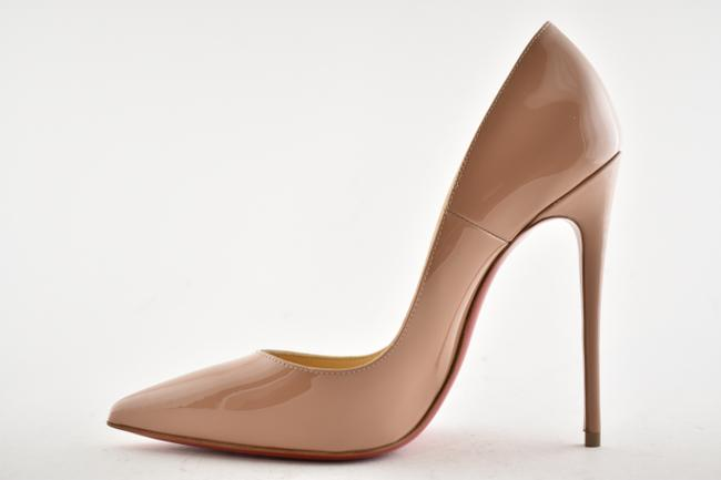 Christian Louboutin Beige Nude Patent Leather So Kate