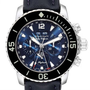 Blancpain Blancpain Fifty Fathoms Flyback Chronograph Moonphase Watch 5066f-1140