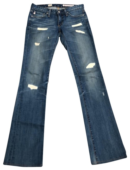 Item - 18 Years Distressed Angel Boot Cut Jeans Size 00 (XXS, 24)
