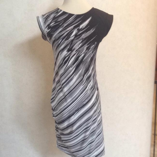 BCBGMAXAZRIA short dress White/black/gray on Tradesy