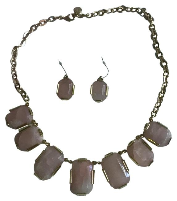 Item - Pink & Gold Lovely and Statement Earrings Necklace