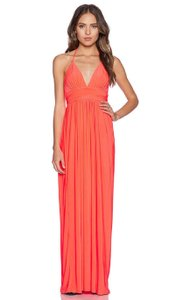 Orange Coral Maxi Dress by T-Bags Los Angeles